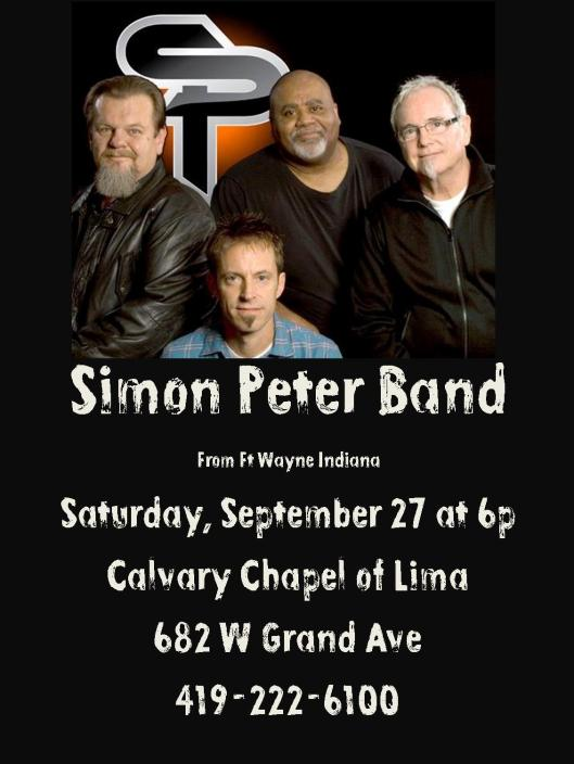 simon peter concert promo flyer
